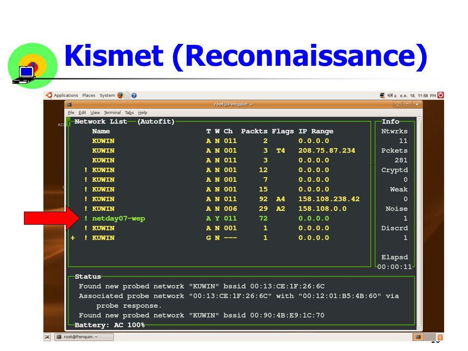 10 Kismet (Reconnaissance)