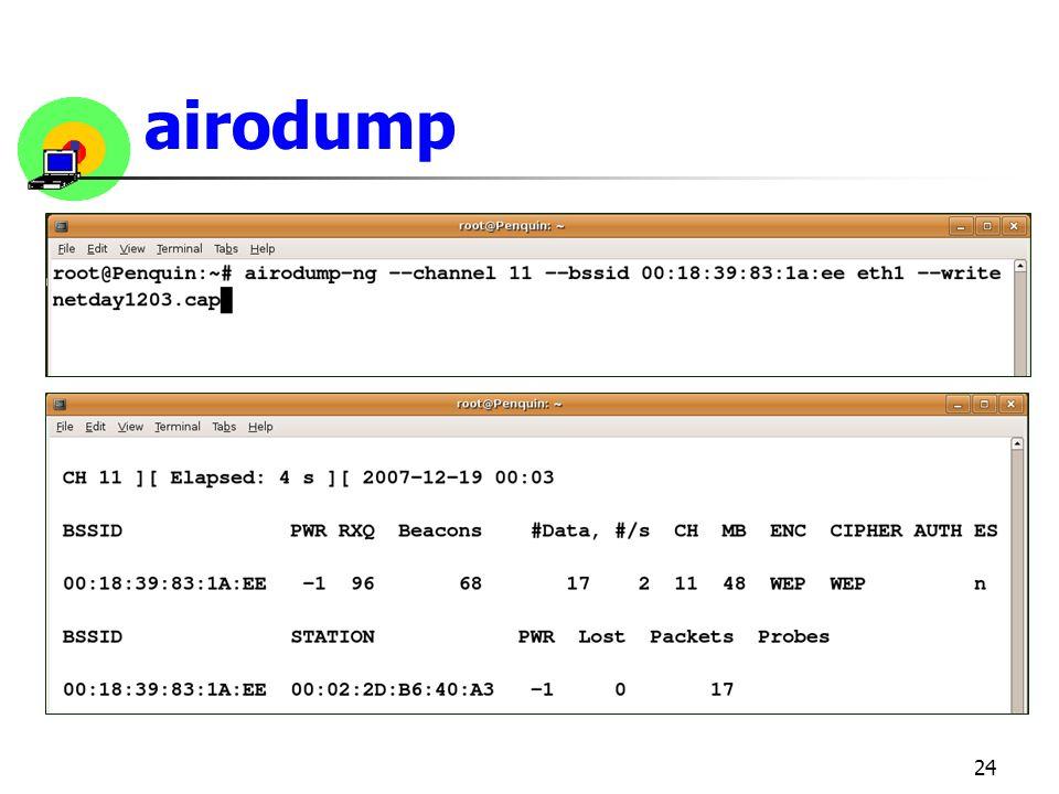 24 airodump