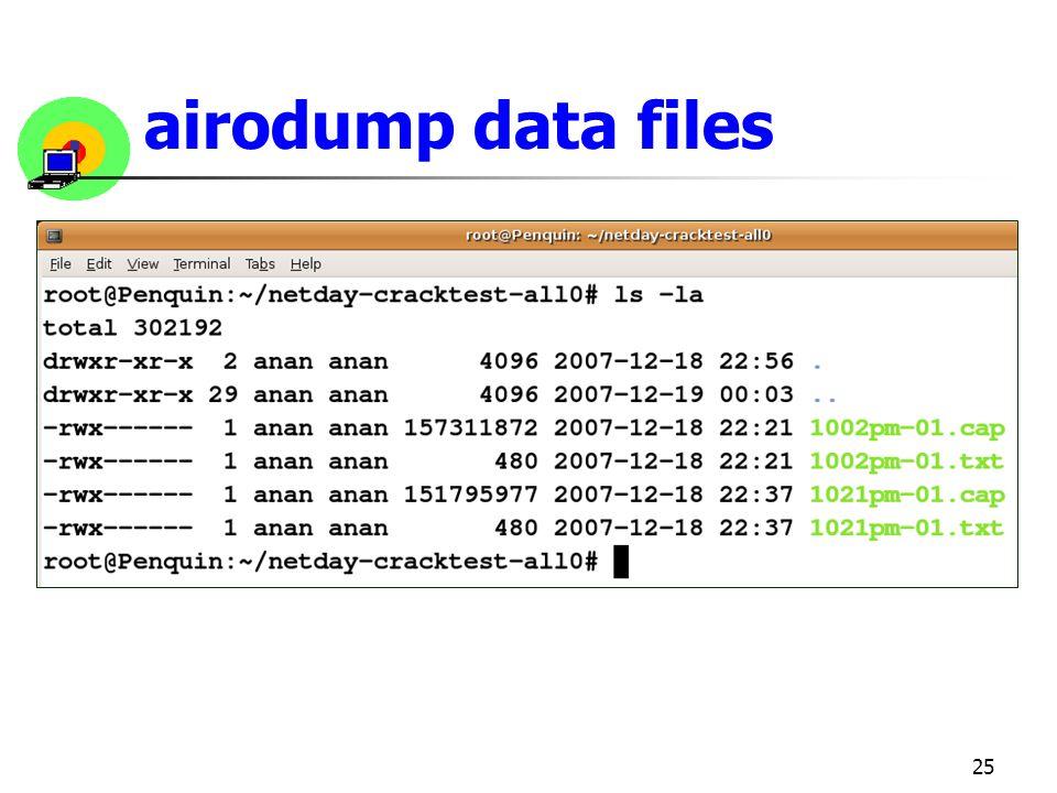 25 airodump data files