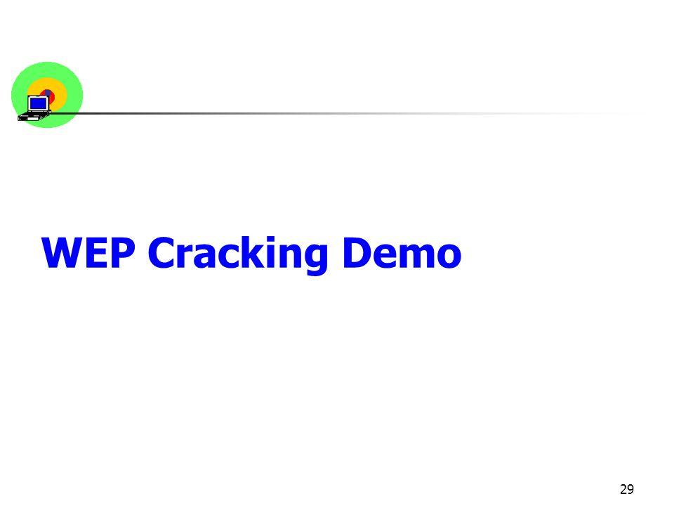 29 WEP Cracking Demo