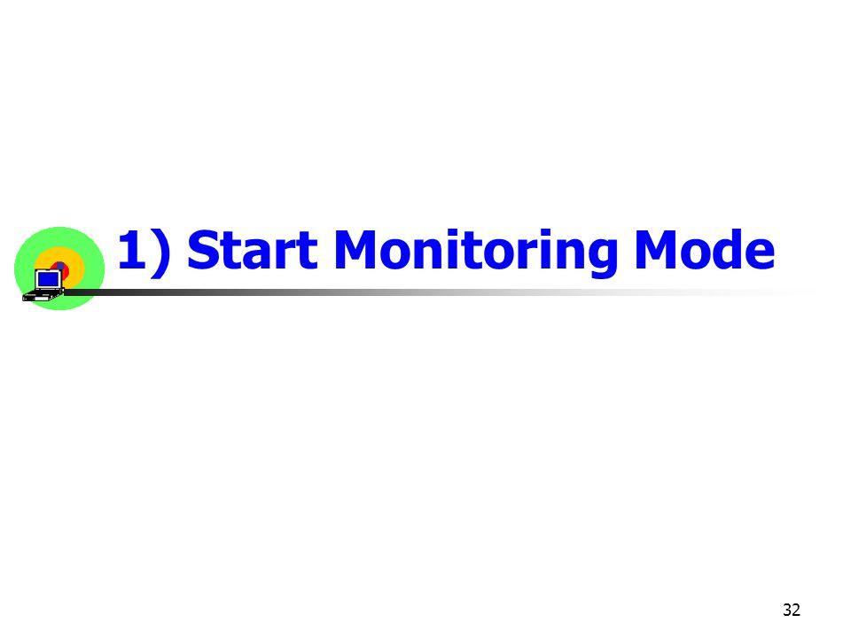 32 1) Start Monitoring Mode