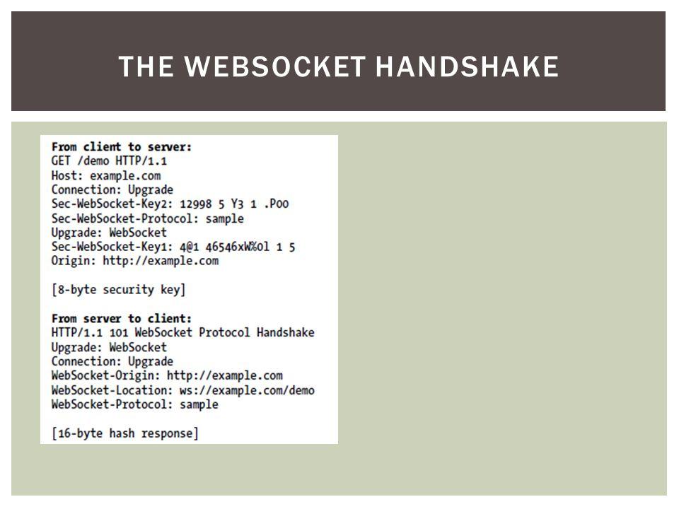 THE WEBSOCKET HANDSHAKE