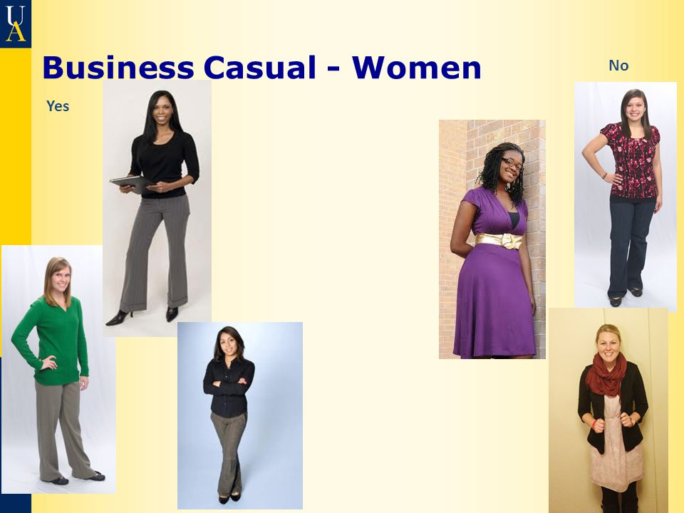 Business Casual - Women Yes No
