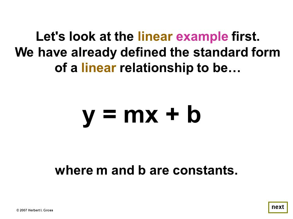 Let s look at the linear example first.