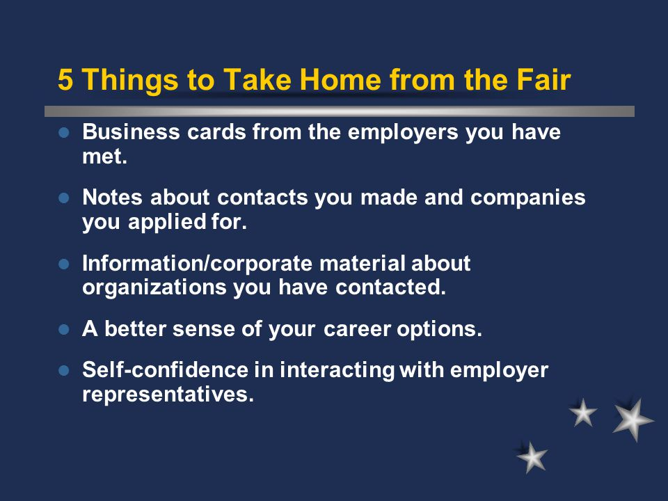 At the Fair … Tips for success Maintain good eye contact.