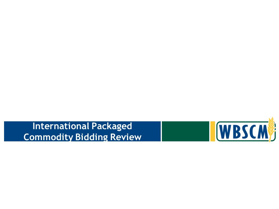 International Packaged Commodity Invitation Create Vendor Response –Vendor Responses are used to manage the lifecycle of the Offers entered for the Vendor.