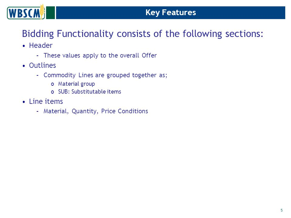 Commodity Offer - Constraints The following options are available to update the constraints –Edit –Delete –Copy –View 26 Select Back to go to previous screen