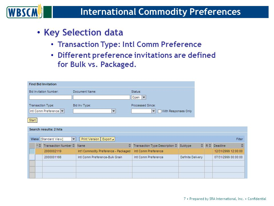Vendor Response – Check Check –This option will Validate the information with the Vendor Response Select Check 28