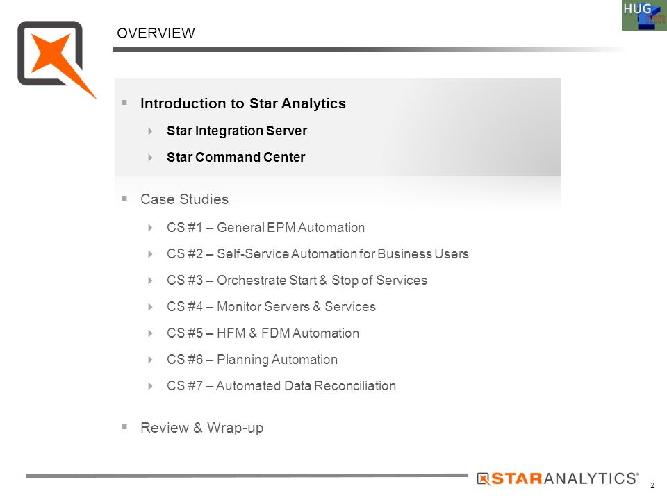 3 Company Overview STAR ANALYTICS  Solid Team with deep BI background  Delivering Technology to Address BI Integration and Automation Requirements  Oracle Technology Partner  Headquartered in San Mateo, CA  Solutions for Automation and Integration  Oracle EPM Ready  Easy & Fast deployments  Customer's Love It.