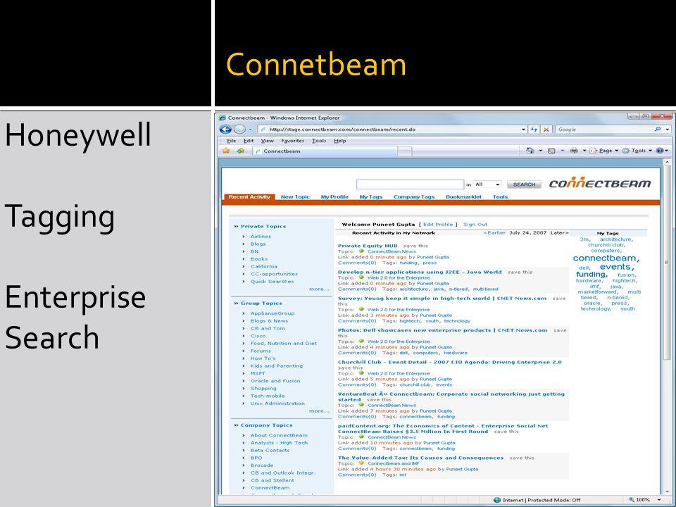 Connetbeam Honeywell Tagging Enterprise Search