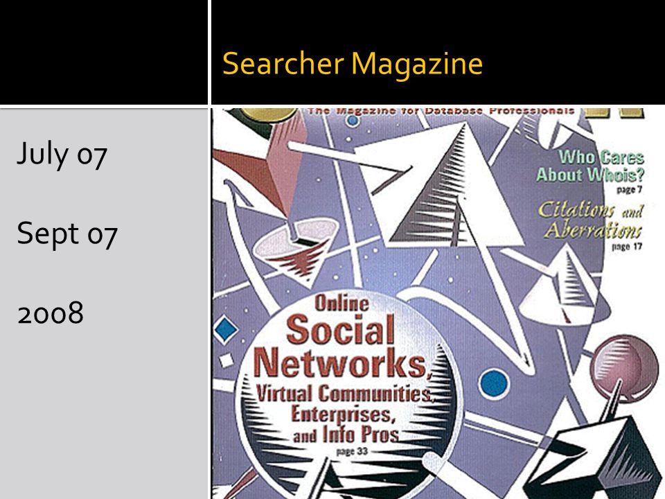 Searcher Magazine July 07 Sept 07 2008