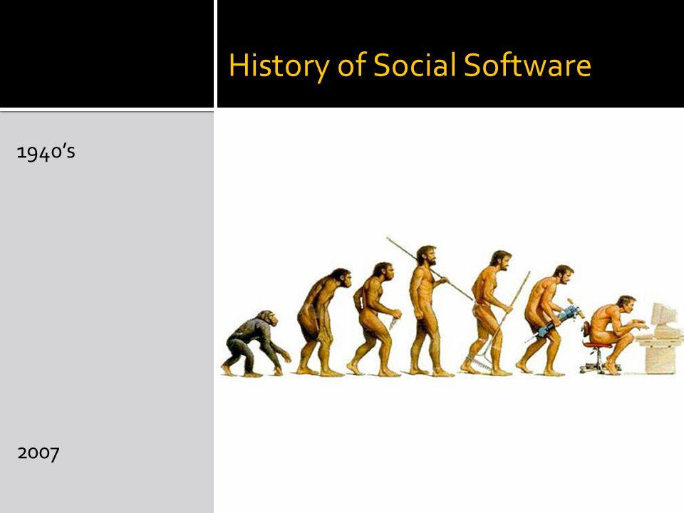 History of Social Software 1940's 2007