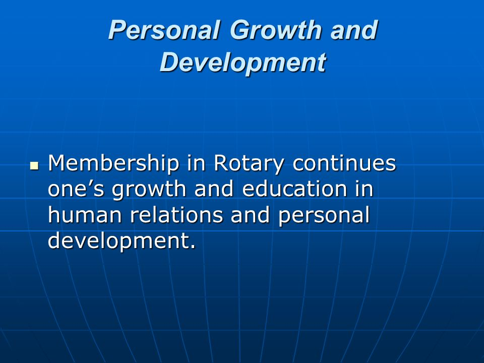 Family Programs Rotary provides one of the world's largest youth exchange programs; High school and college clubs for future Rotarians; Opportunities for spouse involvement A host of activities designed to help family members in growth and development of family values.