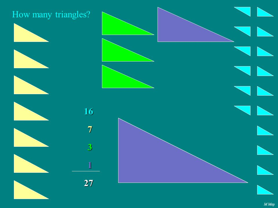 M May How many triangles 16 7 3 1 27