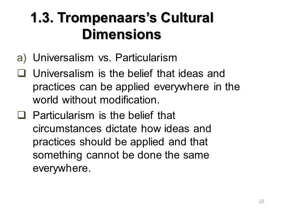 1.3.Trompenaars's Cultural Dimensions b)Individualism vs.