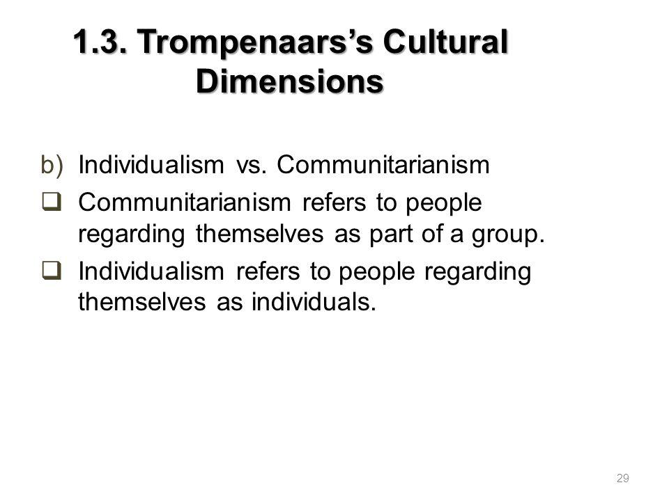 1.3.Trompenaars's Cultural Dimensions c)Neutral vs.