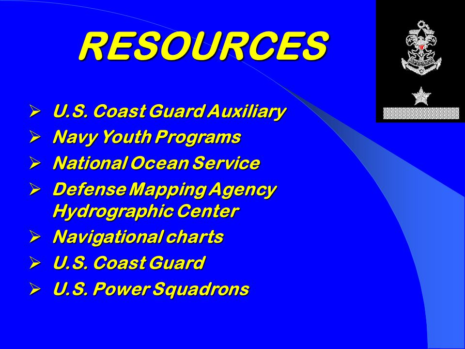 Safety Afloat  Qualified supervision  Physical fitness  Swimming ability  Personal flotation equipment  Buddy system  Skill proficiency  Planning  Equipment  Discipline