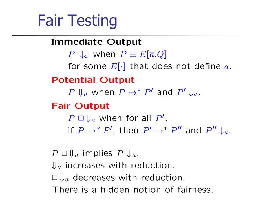 Fair Testing Ce