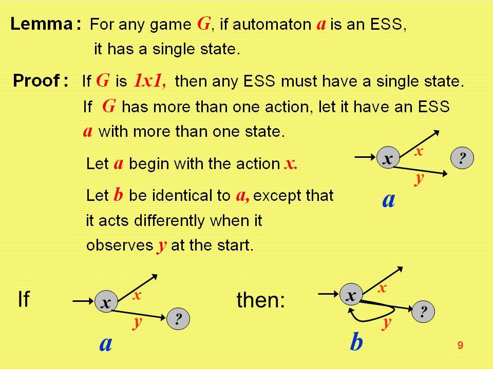 9 x x a y x x a y If then: x x b y