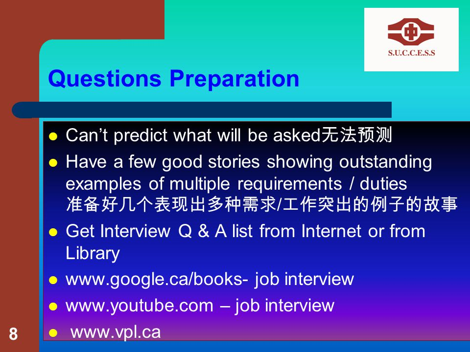 Prepare yourself for the questions Practice 练习 – Write your answers down 你的答案写下来 – Edit, then read it to a friend, edit some more 编辑,然后读给一个朋友 – Talk in front of a mirror / friends / video recorder 在镜子 / 朋友 / 录像机前练习 – You should sound natural 声音应该自然 9