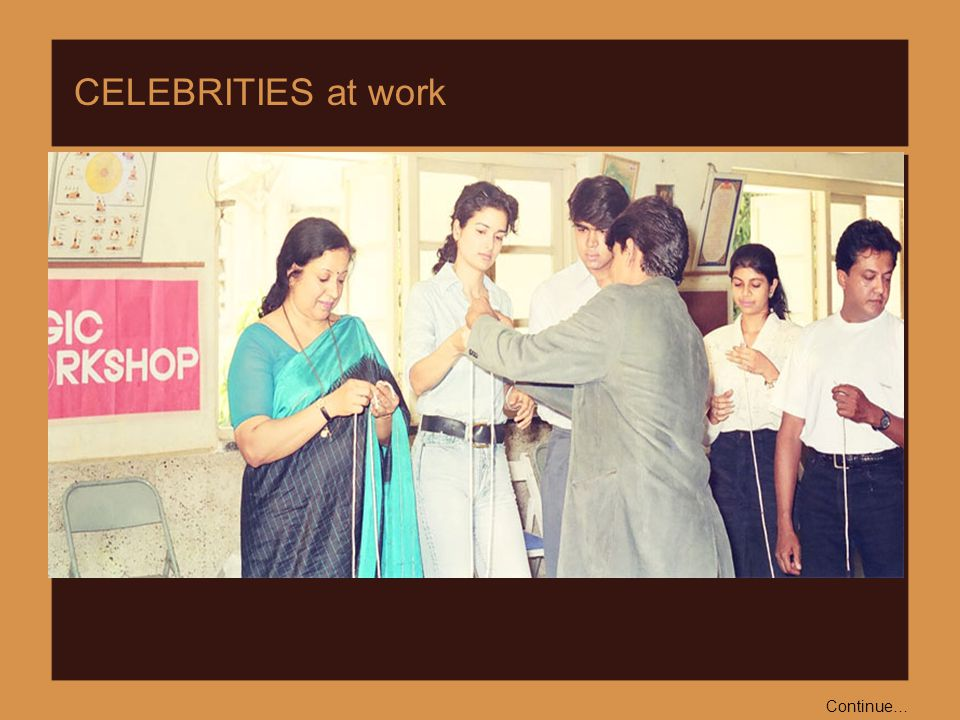 Then Sameera Reddy, Sushma Reddy and others attended Satish Deshmukh's Model Magic Workshop.