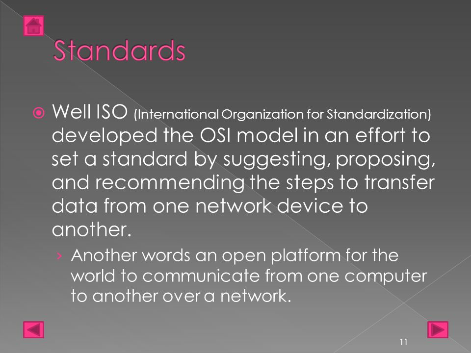 Well ISO (International Organization for Standardization) developed the OSI model in an effort to set a standard by suggesting, proposing, and recom