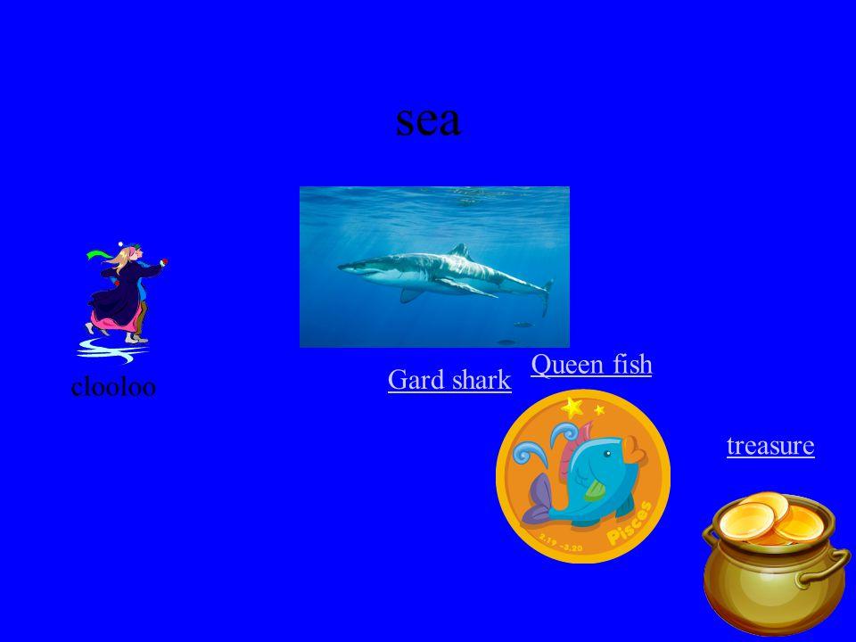 sea clooloo Queen fish treasure Gard shark