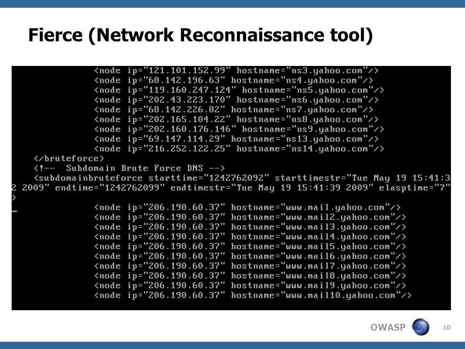 OWASP Fierce (Network Reconnaissance tool) 10