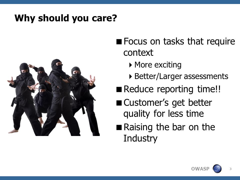 OWASP Why should you care.