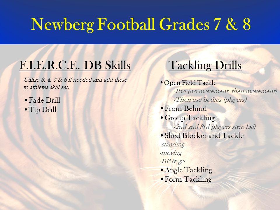 Newberg Football Grades 7 & 8 Tackling DrillsF.I.E.R.C.E.