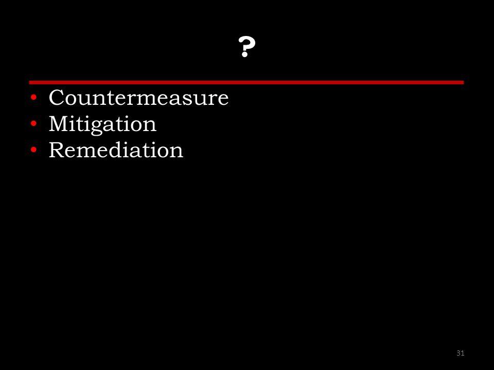 Countermeasure Mitigation Remediation 31