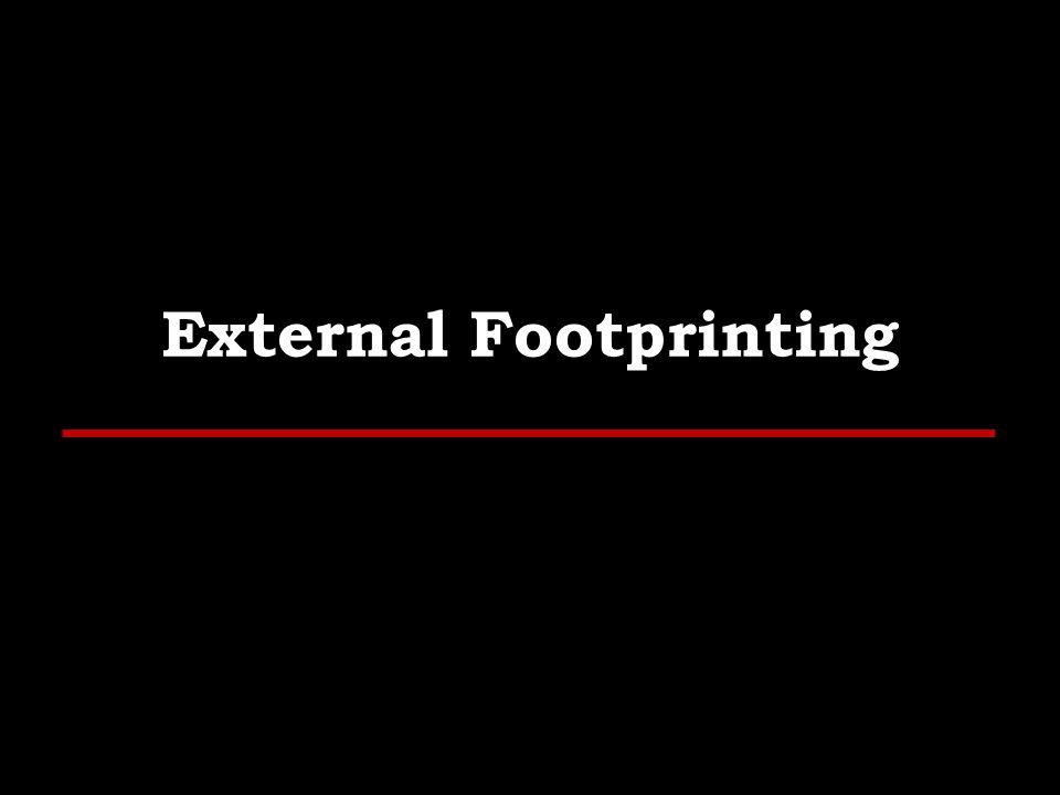 External Footprinting