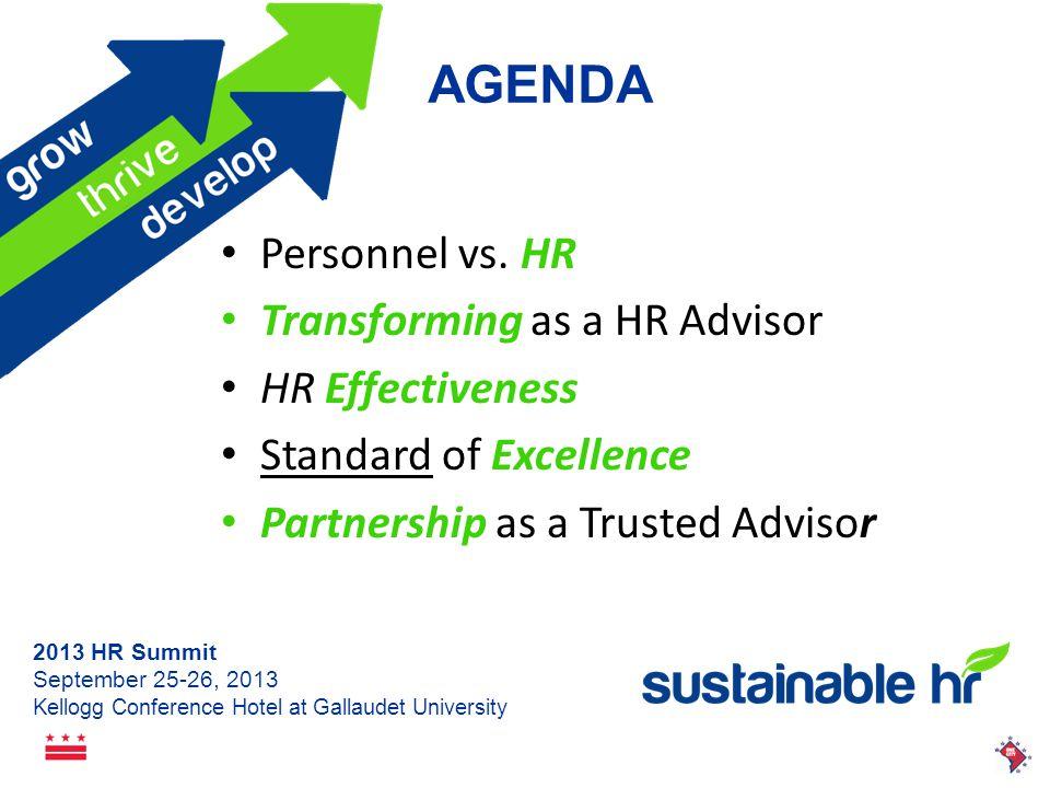 2013 HR Summit September 25-26, 2013 Kellogg Conference Hotel at Gallaudet University Personnel vs.