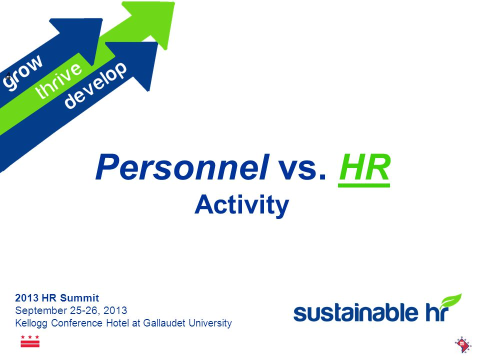 2013 HR Summit September 25-26, 2013 Kellogg Conference Hotel at Gallaudet University Self-Evaluation: Personal Needs Think about a current challenge you have right now at work How might a Personal Need show up or trip you up.