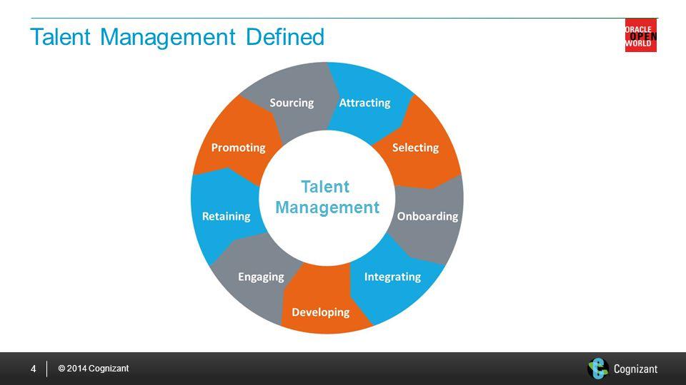© 2014 Cognizant 4 Talent Management Defined Talent Management