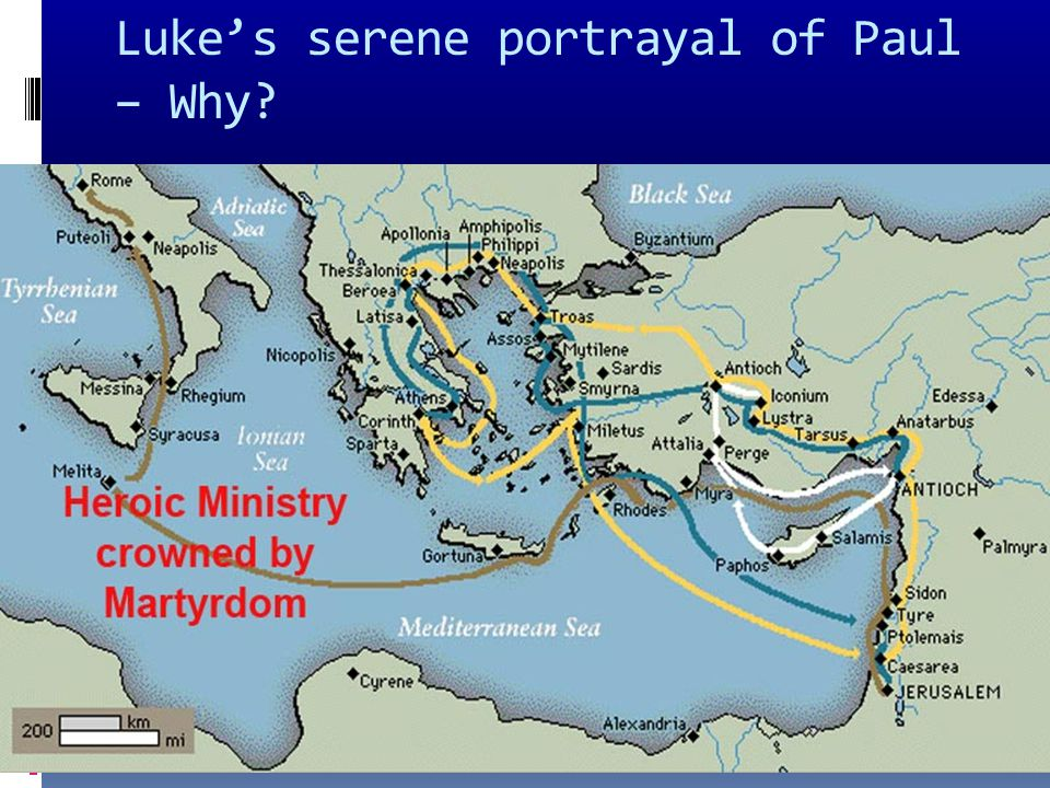 Luke's serene portrayal of Paul – Why
