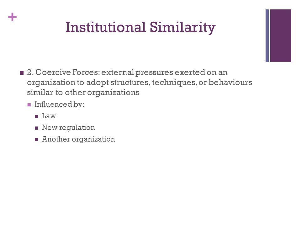 + Institutional Similarity 2.