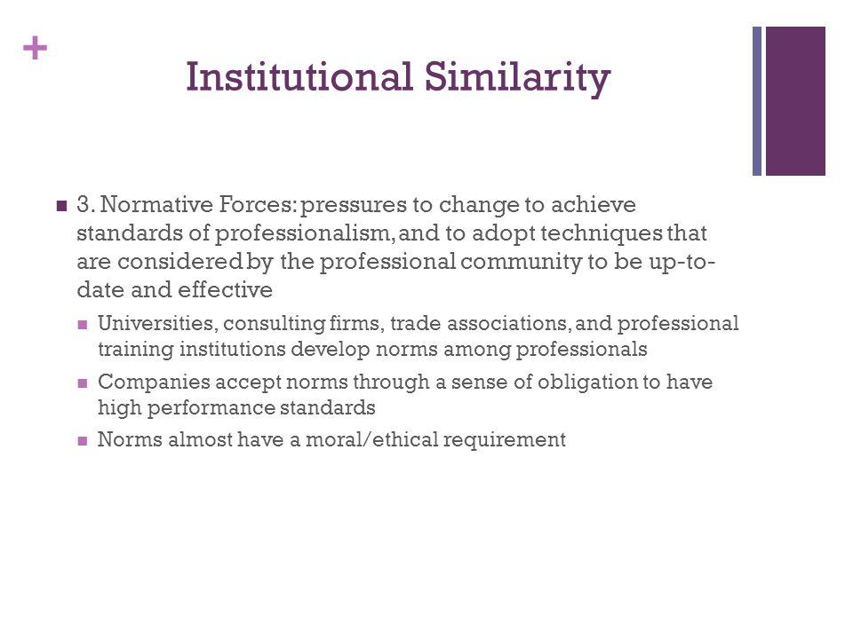 + Institutional Similarity 3.