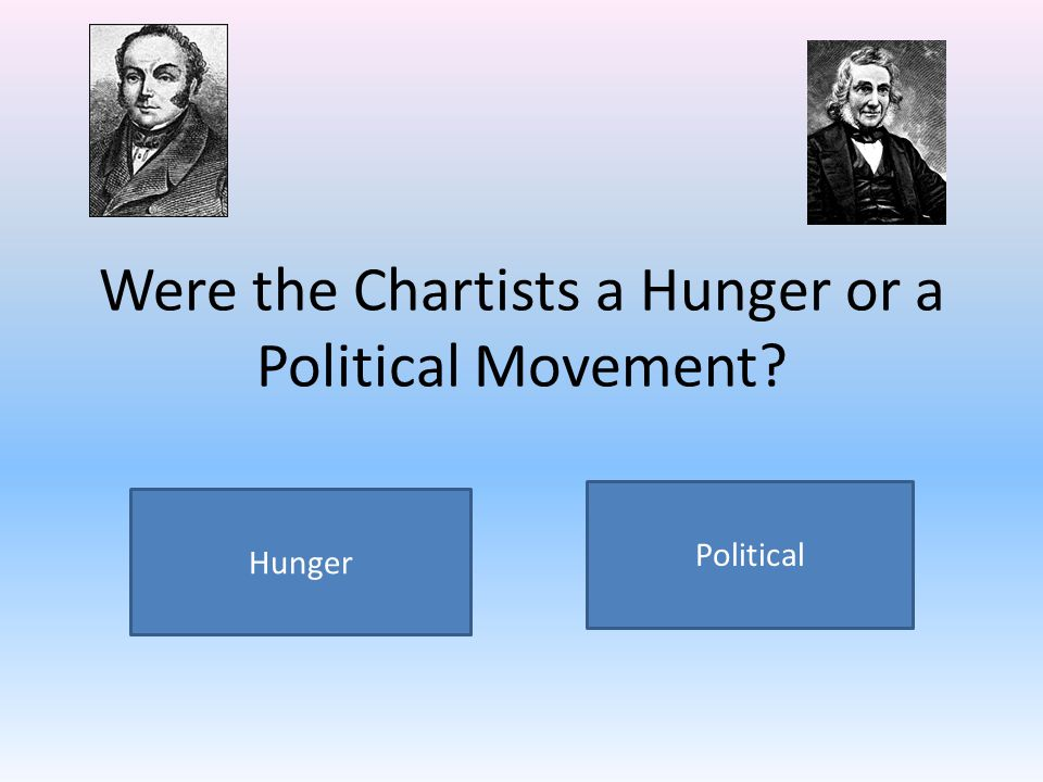 Were the Chartists a Hunger or a Political Movement? Political Hunger