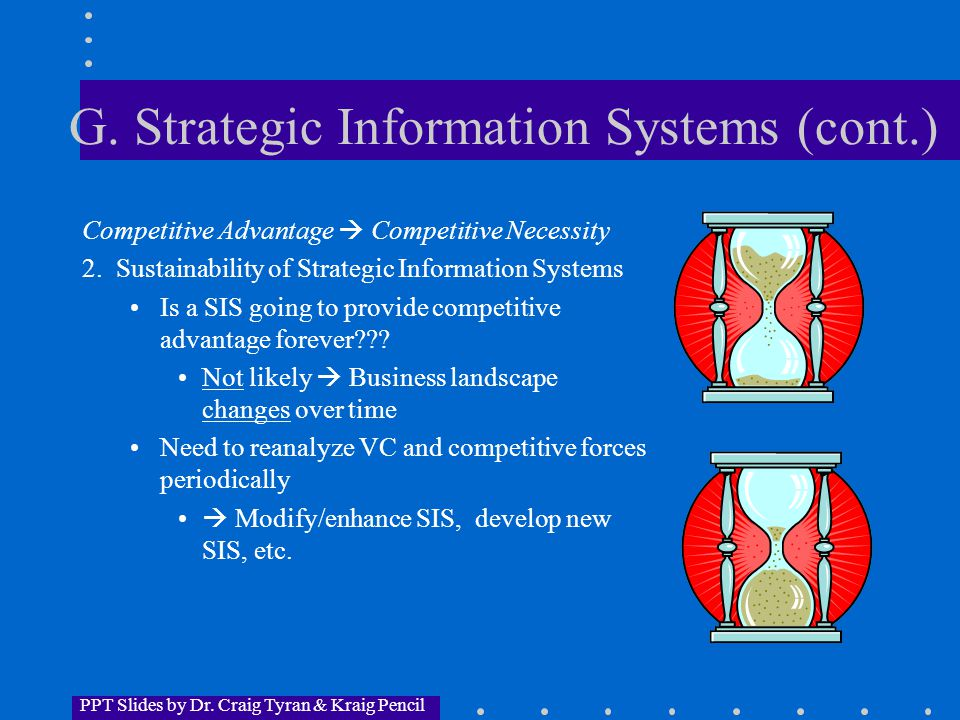 PPT Slides by Dr. Craig Tyran & Kraig Pencil G.