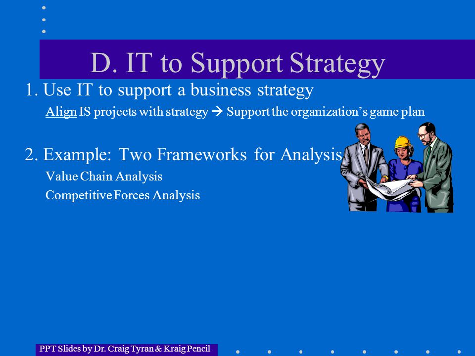 PPT Slides by Dr.Craig Tyran & Kraig Pencil E. IS and the Value Chain (cont.) 5.