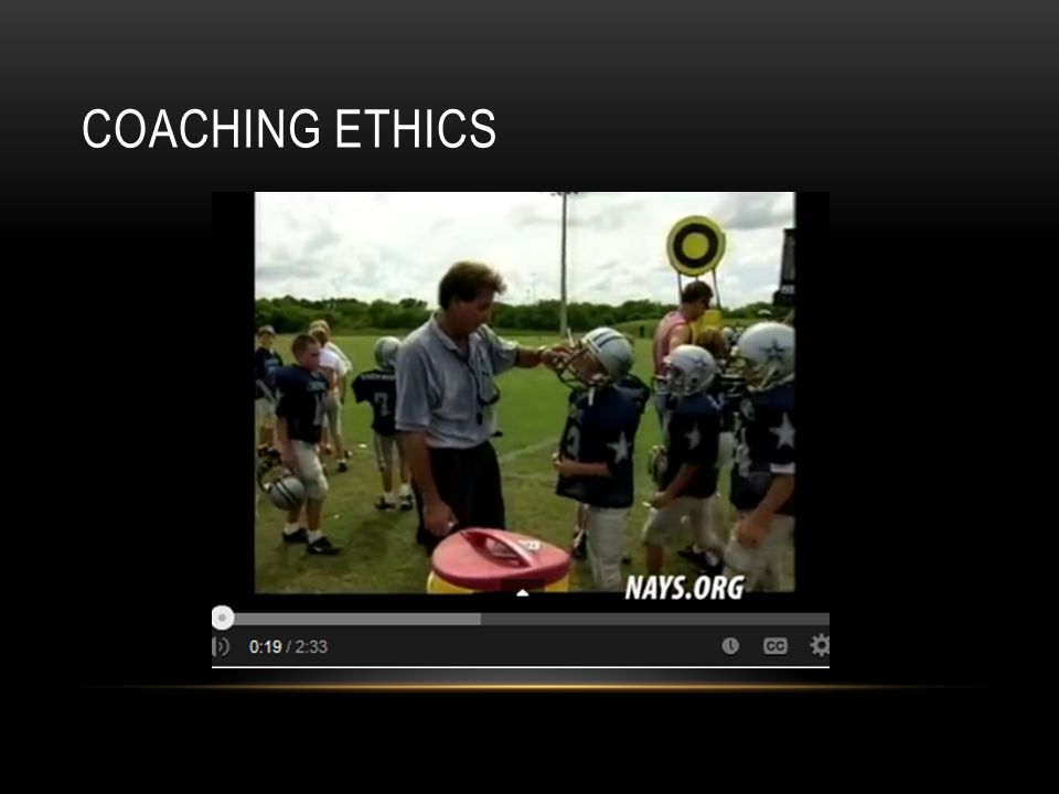 COACHING ETHICS