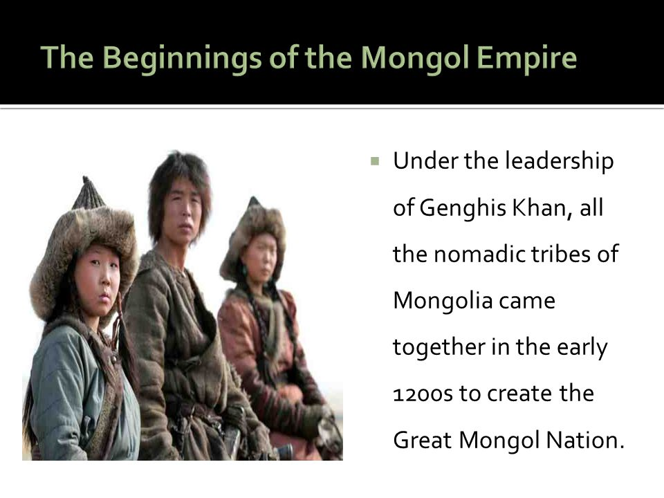  The power of the Mongol Empire led to a period of stability that allowed business and trade to grow.