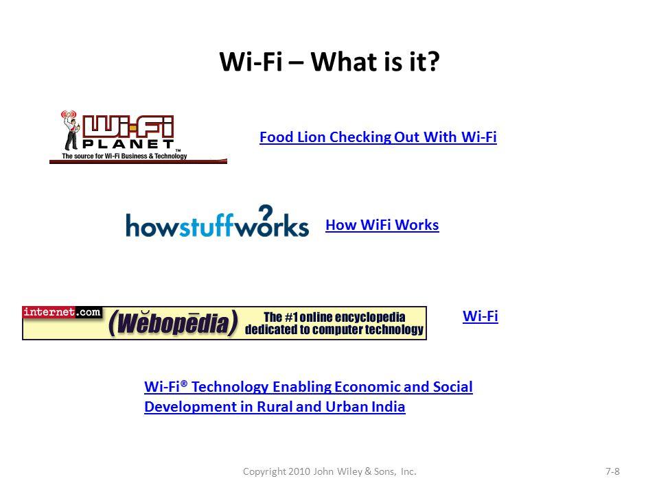 Wi-Fi – What is it.