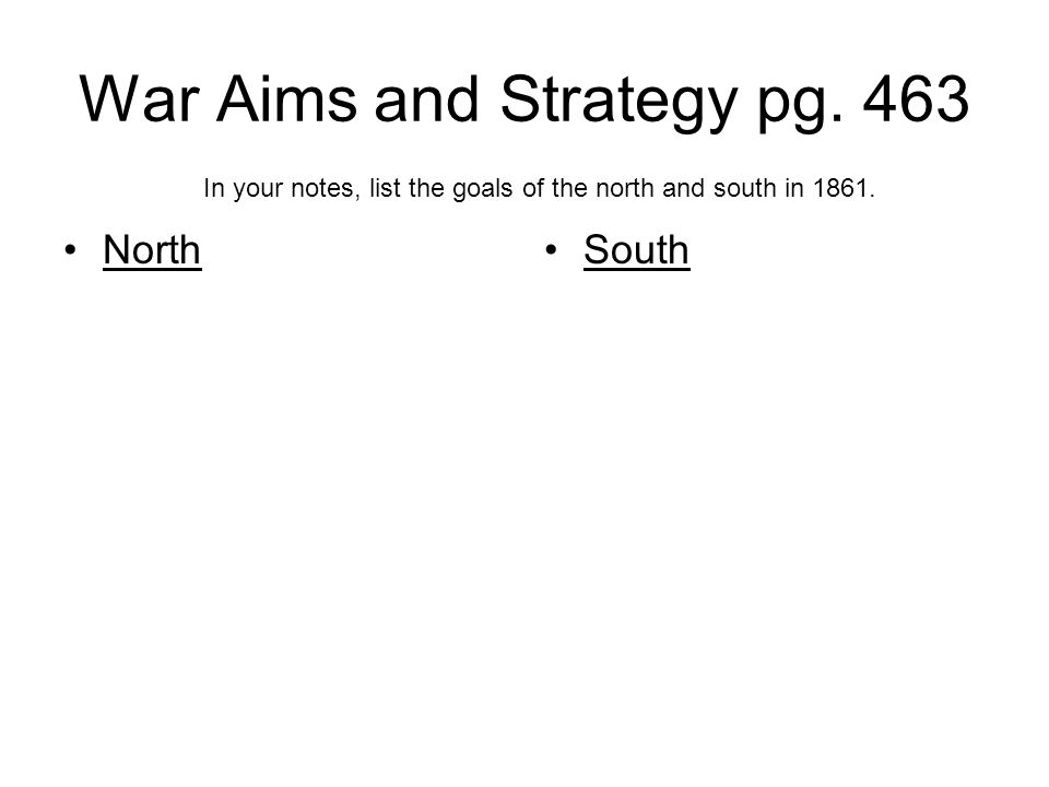 War Aims and Strategy pg.
