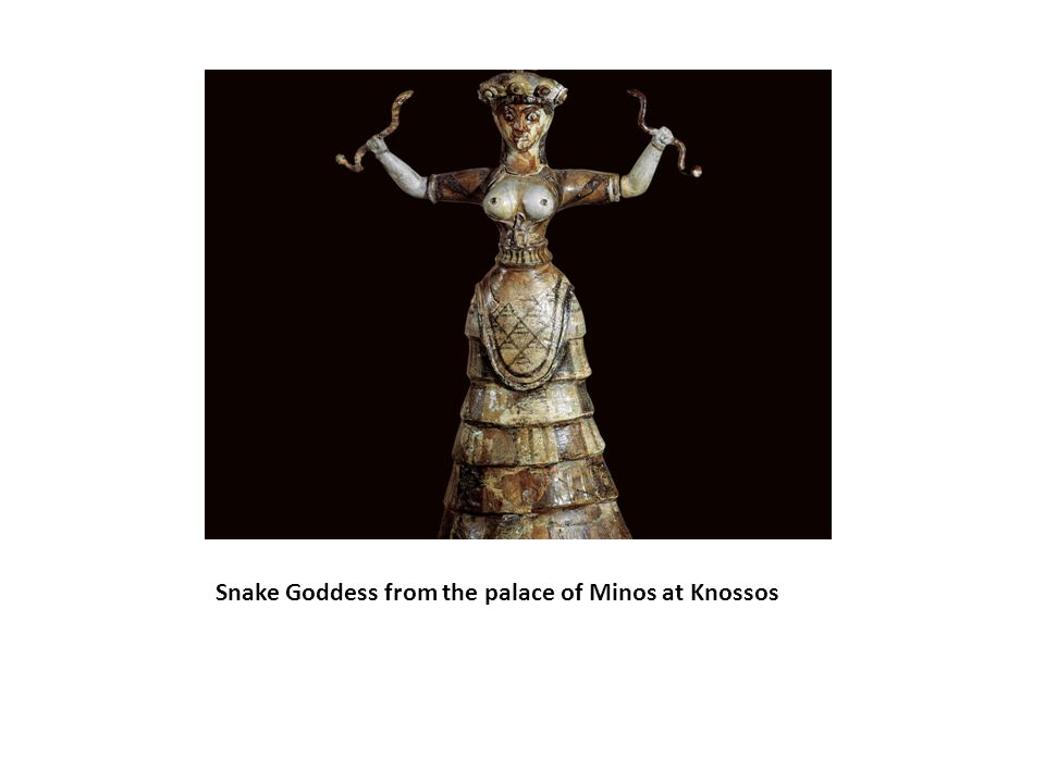 Snake Goddess from the palace of Minos at Knossos