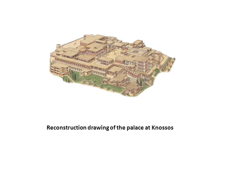 Reconstruction drawing of the palace at Knossos
