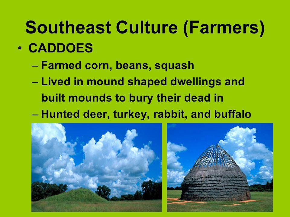 Southeast Culture (Farmers) Atakapans Alabama Coushattas Caddoes Cherokees