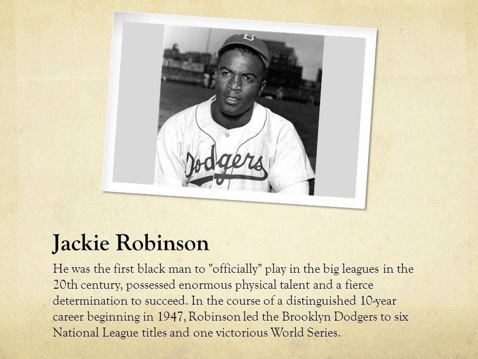 Robinson's telegram Jackie Robinson sent this message to Presidential assistant E.