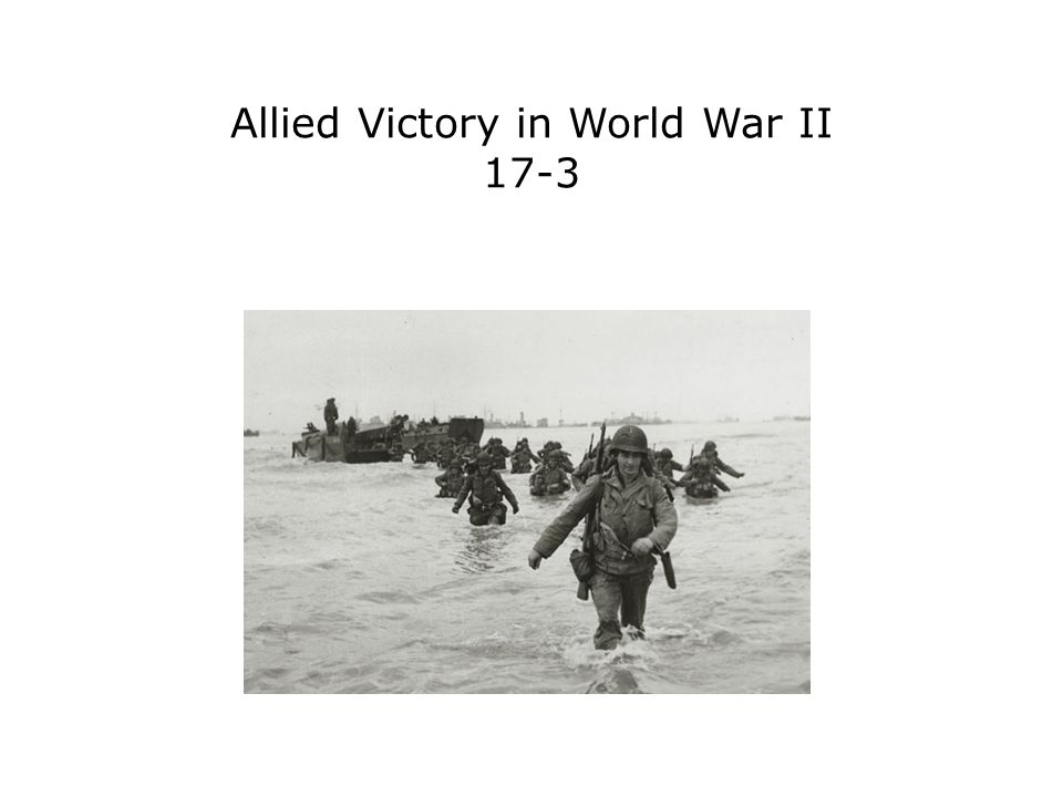 Terms and People D-Day − June 6, 1944, the day Allied forces invaded France Battle of the Bulge − German counterattack that failed, resulting in an Allied victory Harry S.